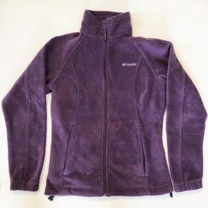 Columbia fleece purple jacket